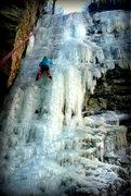 Rock Climbing Photo: Little Black Dike, WI4, Catskills, NY