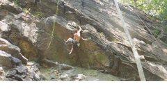 Rock Climbing Photo: 5.9 roof Free