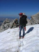 Rock Climbing Photo: Snowfield just before the last scramble at the top...