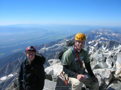 Rock Climbing Photo: Father and son at the top!