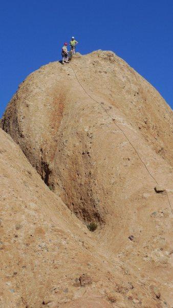 "Rock Climbing Photo: Enjoying airy summit of the ""Tower of Babel.&..."
