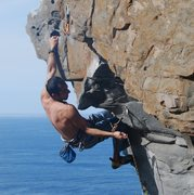 Rock Climbing Photo: On Suficiente at Vistamar, Tenerife going to z-cli...