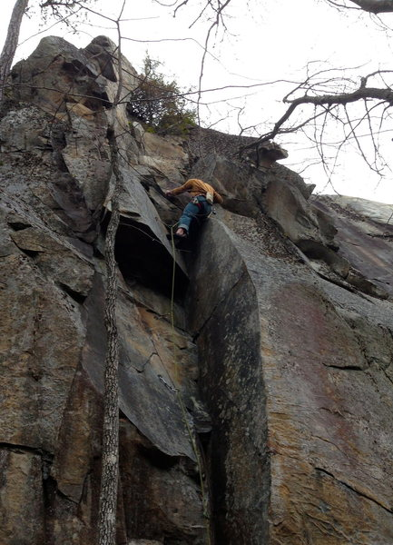 """On-sight of """"the nauseator"""" 5.11c in the Black Canyon"""