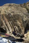 Rock Climbing Photo: Jared starting up Antifaz.