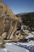 Rock Climbing Photo: Jared finishing the last move on Antifaz.