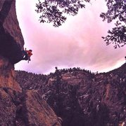 Rock Climbing Photo: The Ruff Roof at Mine Hole Crag on a cold December...