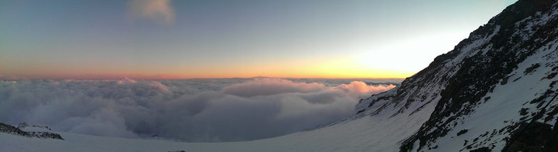 Sunset from Camp Muir on late Sept. 2013