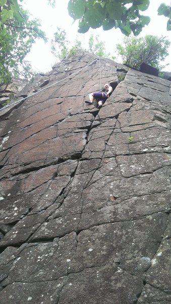 Rock Climbing Photo: Near the keyhole area.