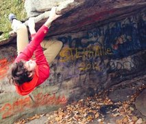 Rock Climbing Photo: Unnamed (to my knowledge) boulder problem at bear ...