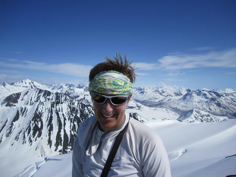 Rock Climbing Photo: Summit of unnamed peak, St. Elias Range, AK
