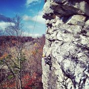 Rock Climbing Photo: Working Black Crack.