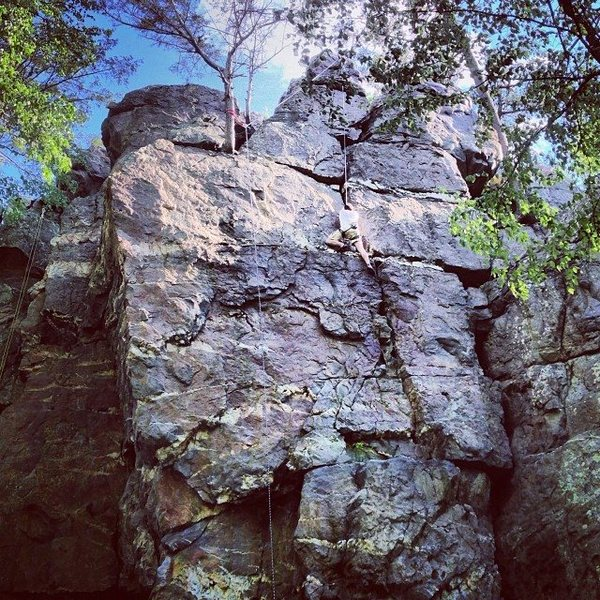 Rock Climbing Photo: Phins working a climb at Shaffer.