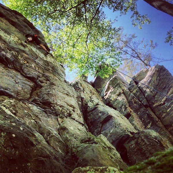 Rock Climbing Photo: Hank at Shaffer.