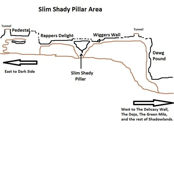 Map of Slim Shady Wall