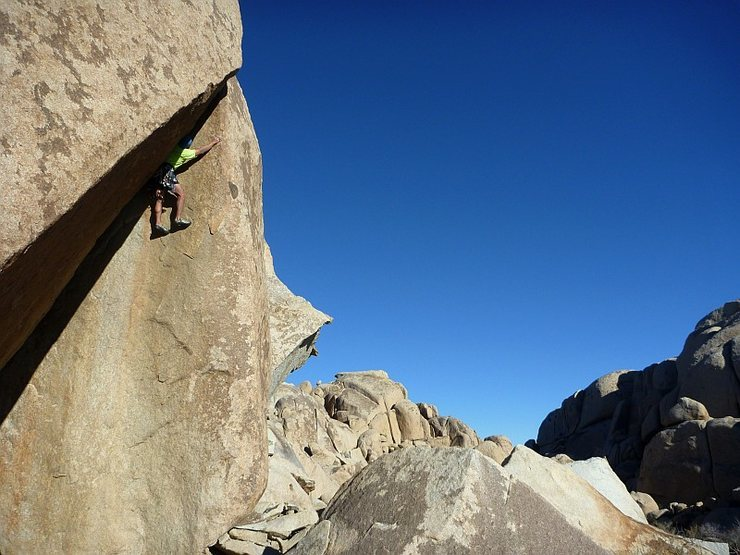 Rock Climbing Photo: Leading the unique and awesome Between A Rock And ...