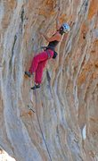 Rock Climbing Photo: Alison heads up for some tufa climbing Couples Fea...