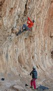 Rock Climbing Photo: Jason and Alison at the start  Ground Afffects  (5...