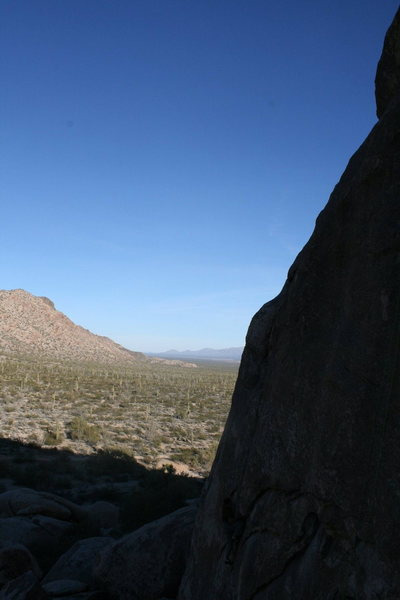This is a picture taken from the area with the Rope climbing.