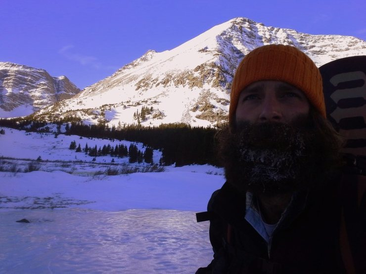 Cold beard at the lakes below Mt Adams