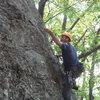 Joe clipping on the Whimpy Gilman Ridge