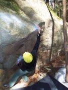 Rock Climbing Photo: Noah snagging the lip