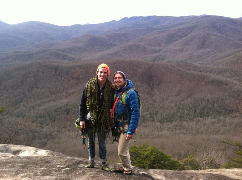 Rock Climbing Photo: Me and my climbing partner Gabe on top of Looking ...