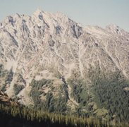 Rock Climbing Photo: View of Mount Stuart's south side from Long's Pass...
