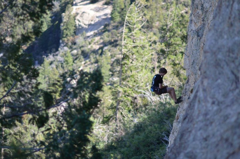Rock Climbing Photo: lowering off on a beautiful mid autumn day Photo: ...