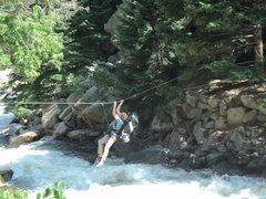 Rock Climbing Photo: Crossing the river.