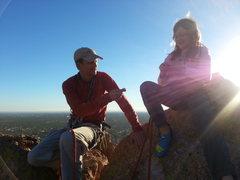 Rock Climbing Photo: Scott and Riley in Greevers' Needle via the Gordon...