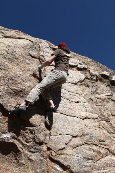 Rock Climbing Photo: Long moves on huge holds, fun!!