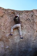 Rock Climbing Photo: On the easy finishing moves.