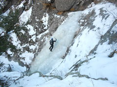 Rock Climbing Photo: KK on perfect BTC ice.