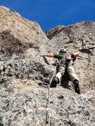 "Rock Climbing Photo: Splitclimber starting up ""Lichen It"", a ..."