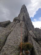 Rock Climbing Photo: Michelle starting the East Ridge of Wolf's Head in...