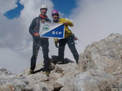Rock Climbing Photo: Near the summit of the Grand Teton after climbing ...