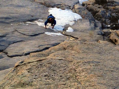 Rock Climbing Photo: The 'snow' crux of Racing Lizards on Dec. 23rd, 20...