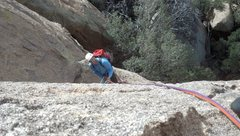 Rock Climbing Photo: Looking back at the belay station while leading th...