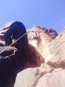 Rock Climbing Photo: This is probably 2 moves after the obvious mantle....