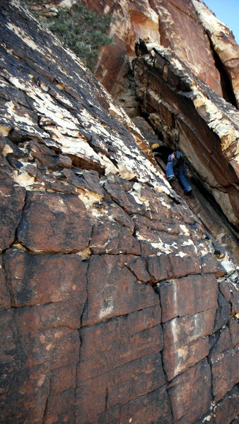 Rock Climbing Photo: In the chimney of pitch 2.
