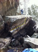 Rock Climbing Photo: Deadwood Cave with the sun lighting up the Middle ...