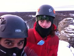 Rock Climbing Photo: Fun winter ascent with Dan Perry on a cold, single...