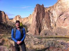 Rock Climbing Photo: Me in Smith Rock