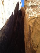 Rock Climbing Photo: Pitch 3 chimney