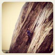 Rock Climbing Photo: Climbing New Years Eve in San Francisco's Beaver S...