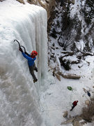 Rock Climbing Photo: The final curtain of CCC Falls.