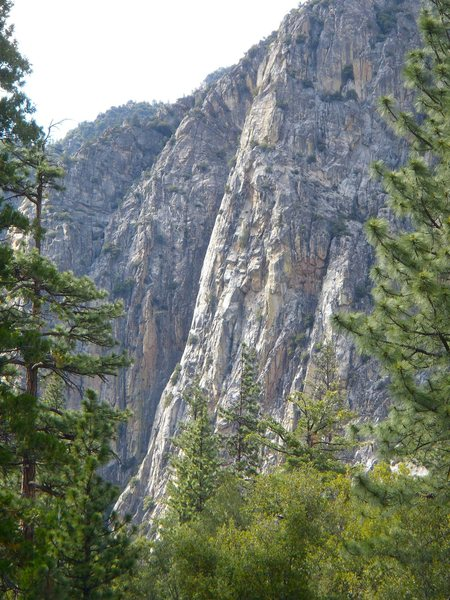 Rock Climbing Photo: Follows the sunlit buttress up the middle of the p...