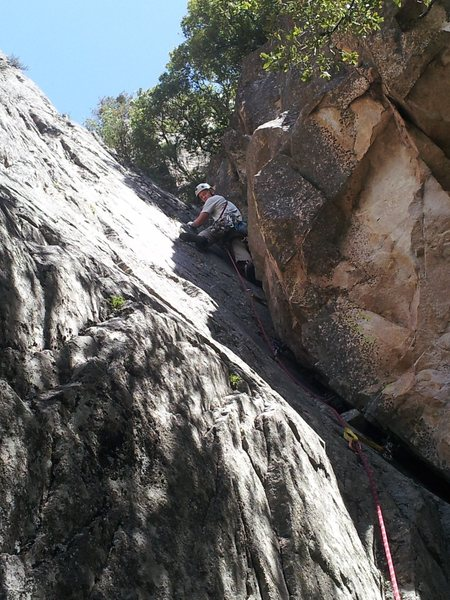 Rock Climbing Photo: The first pitch