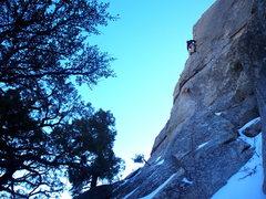 Rock Climbing Photo: Garret on Mantle Dynamics