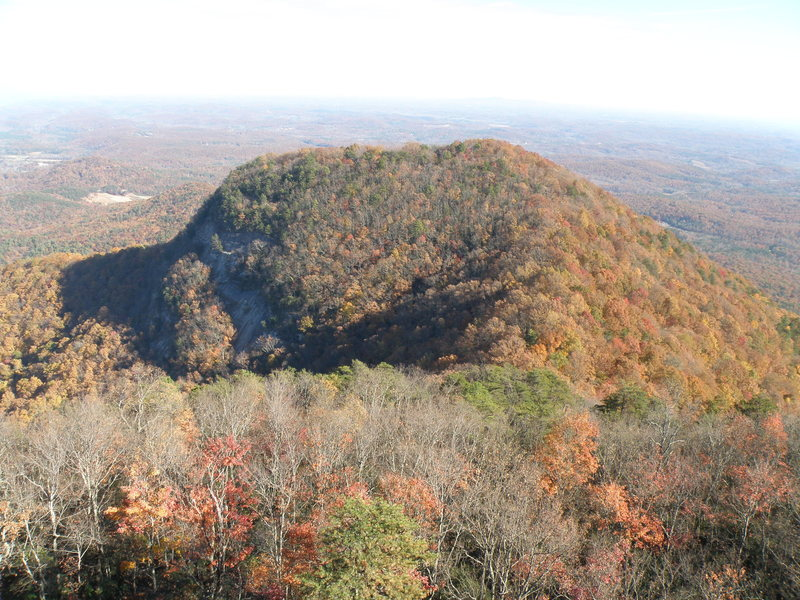 A view of the saddle and adjacent mountain from the top of the watergroove wall.